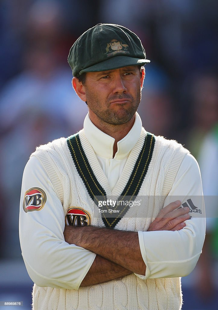 Ricky Ponting of Australia looks dejected after England secured the draw during day five of the npower 1st Ashes Test Match between England and Australia at the SWALEC Stadium on July 12, 2009 in Cardiff, Wales.