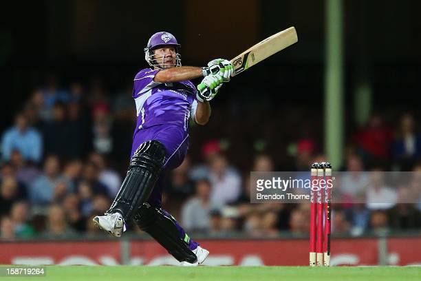 Ricky Ponting of the Hurricanes bats during the Big Bash League match between the Sydney Sixers and the Hobart Hurricanes at SCG on December 26 2012...