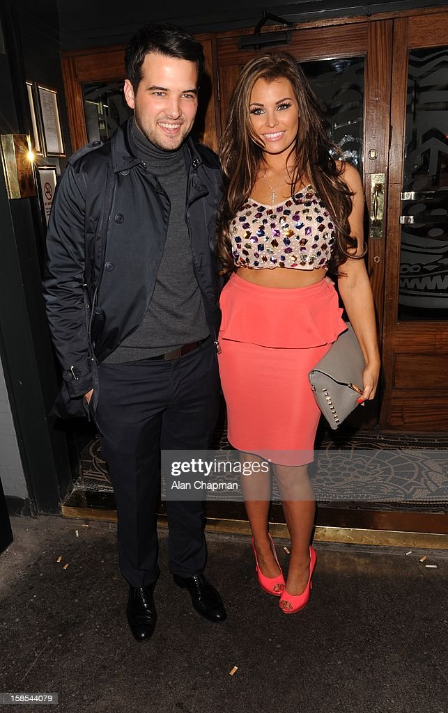Ricky Rayment and Jessica Wright sighting at the Groucho Club on December 18, 2012 in London, England.