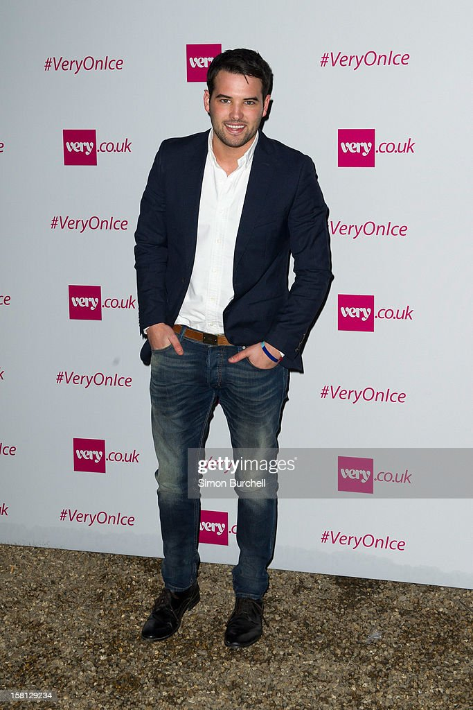 Ricky Rayment attends the Very.co.uk Christmas catwalk on ice show at Tower of London on December 10, 2012 in London, England.