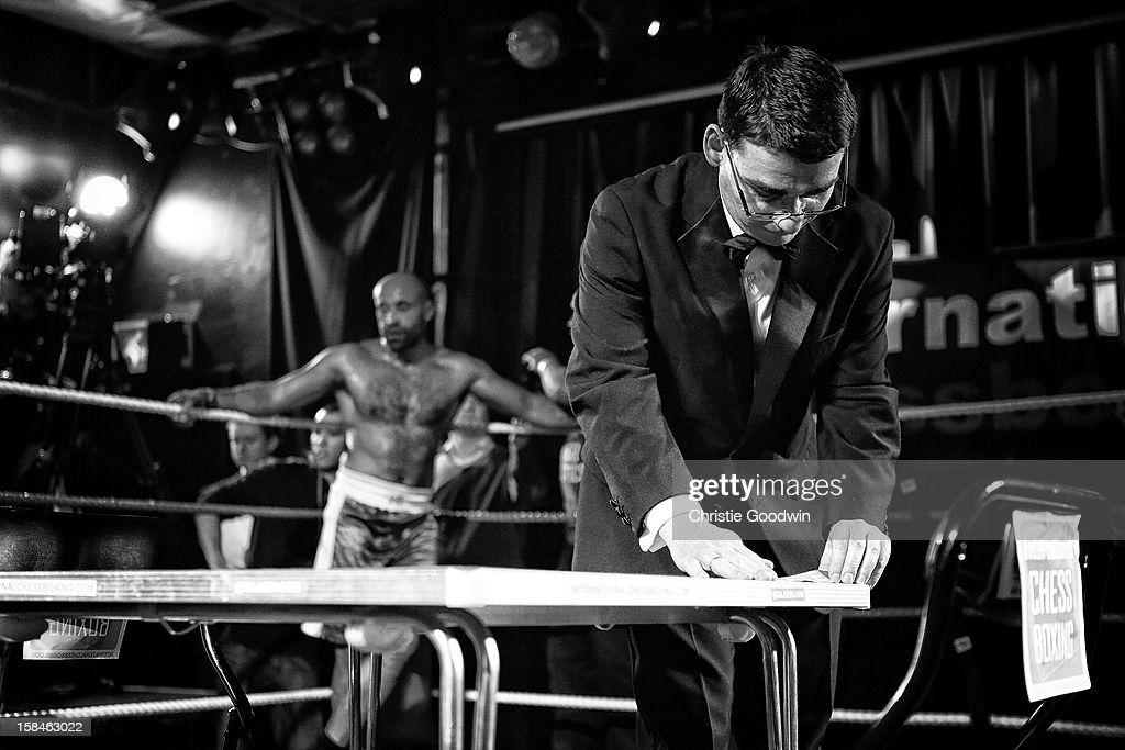 Ricky Rock in the ring during the Chessboxing 2012 Season Finale at Scala on December 8, 2012 in London, England.