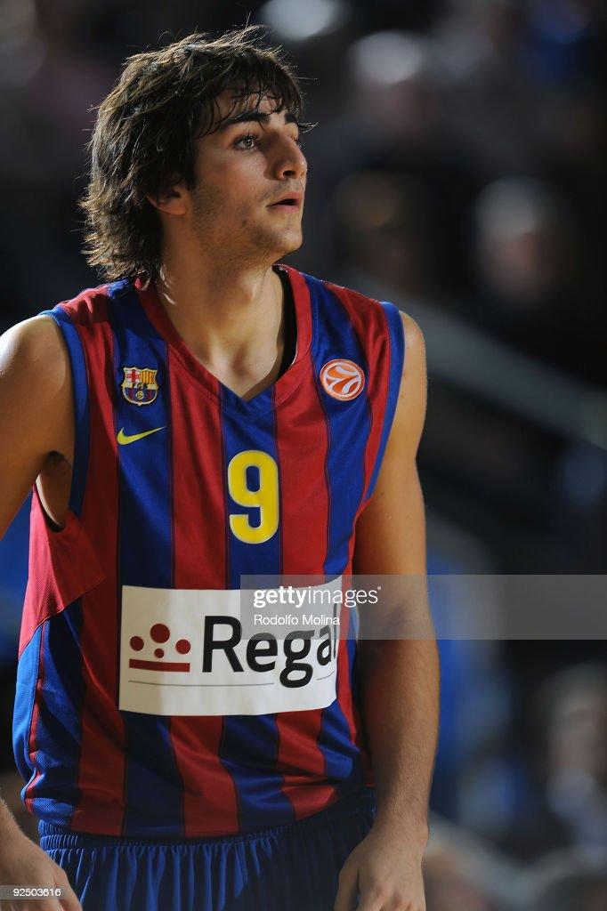 Ricky Rubio #9 of Regal FC Barcelona in action during the Euroleague Basketball Regular Season 20092010 Game Day 2 between Regal FC Barcelona vs KK...