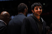 Ricky Rubio of the Minnesota Timberwolves during the game against the Denver Nuggets on December 26 2014 at the Pepsi Center in Denver Colorado NOTE...
