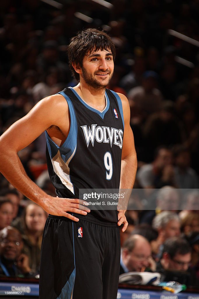 Ricky Rubio #9 of the Minnesota Timberwolves looks on during a game played against the New York Knicks on December 23, 2012 at Madison Square Garden in New York City.