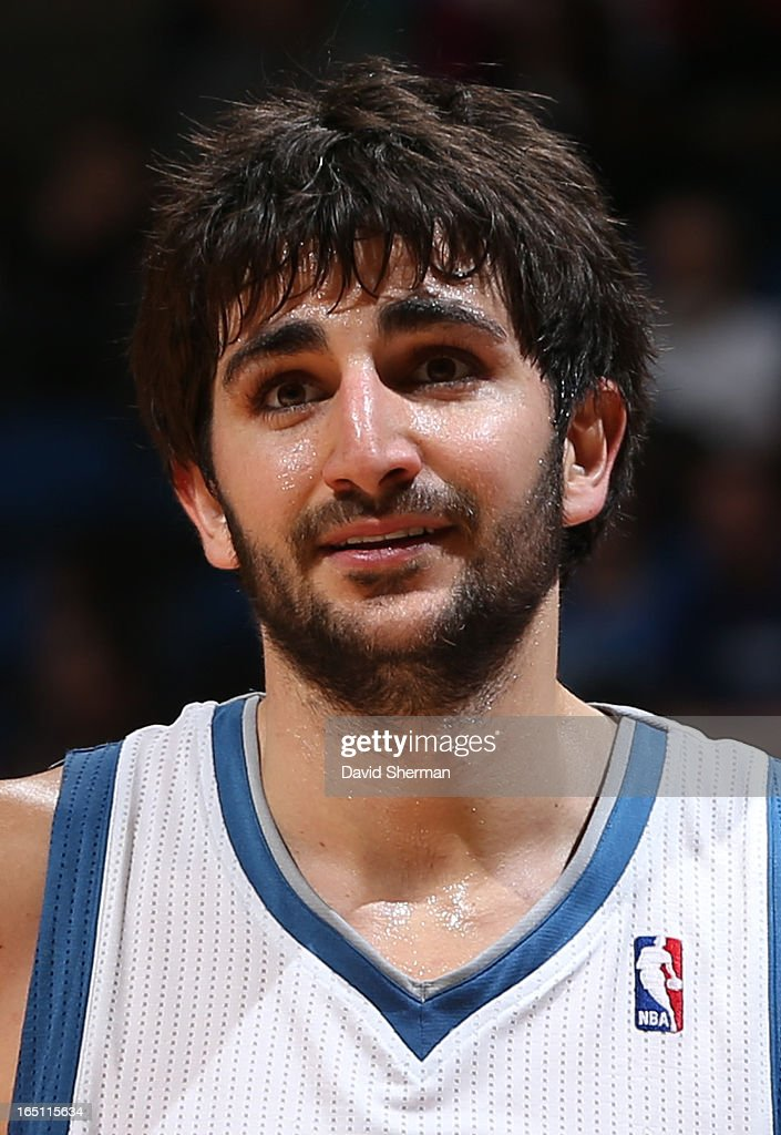 <a gi-track='captionPersonalityLinkClicked' href=/galleries/search?phrase=Ricky+Rubio&family=editorial&specificpeople=4028920 ng-click='$event.stopPropagation()'>Ricky Rubio</a> #9 of the Minnesota Timberwolves looks on during the game between the Memphis Grizzlies and the Minnesota Timberwolves on March 30, 2013 at Target Center in Minneapolis, Minnesota.