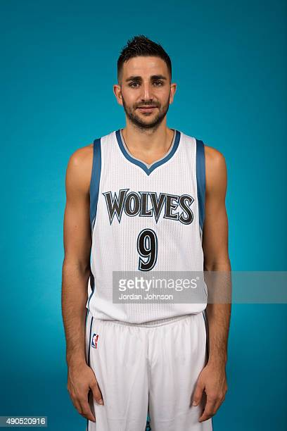 Ricky Rubio of the Minnesota Timberwolves pose for portraits during 2015 Media Day on September 28 2015 at Target Center in Minneapolis Minnesota...