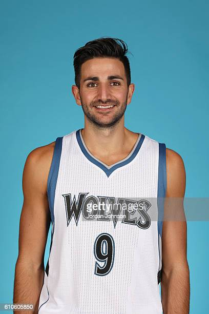Ricky Rubio of the Minnesota Timberwolves poses for a head shot during the 20162017 Minnesota Timberwolves Media Day on September 26 2016 at Target...