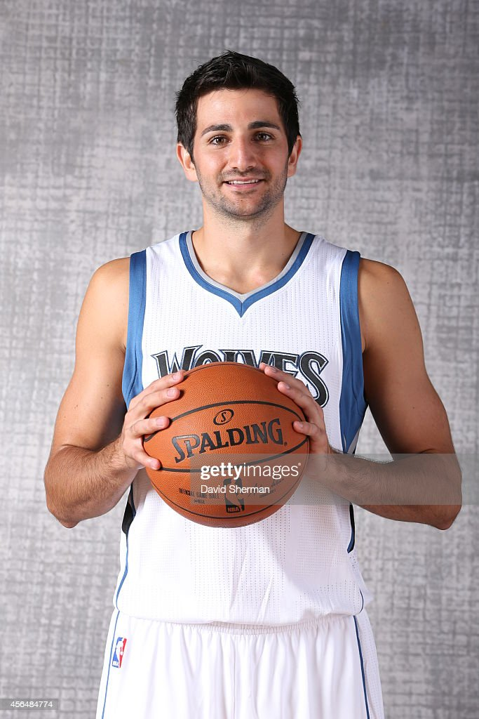 Ricky Rubio of the Minnesota Timberwolves poses for a portrait during 2014 NBA Media Day on September 29 2014 at the Minnesota Timberwolves and Lynx...
