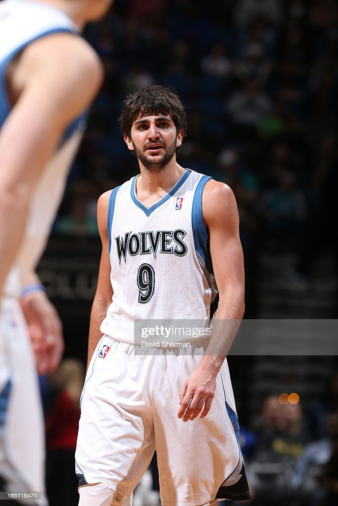 Ricky Rubio #9 of the Minnesota Timberwolves reacts during the game between the Memphis Grizzlies and the Minnesota Timberwolves on March 30, 2013 at Target Center in Minneapolis, Minnesota.