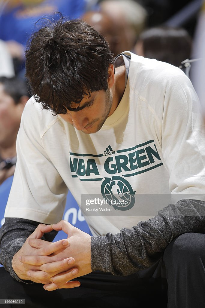 <a gi-track='captionPersonalityLinkClicked' href=/galleries/search?phrase=Ricky+Rubio&family=editorial&specificpeople=4028920 ng-click='$event.stopPropagation()'>Ricky Rubio</a> #9 of the Minnesota Timberwolves warms up before a game against the Golden State Warriors on April 9, 2013 at Oracle Arena in Oakland, California.