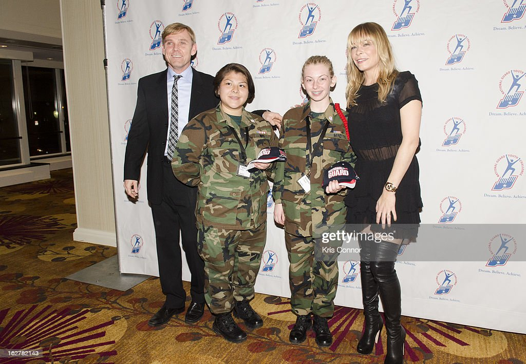 Ricky Schroder and <a gi-track='captionPersonalityLinkClicked' href=/galleries/search?phrase=LeAnn+Rimes&family=editorial&specificpeople=208815 ng-click='$event.stopPropagation()'>LeAnn Rimes</a> pose with cadets during the 2013 ChalleNGe Champions Gala at JW Marriott Hotel on February 26, 2013 in Washington, DC.