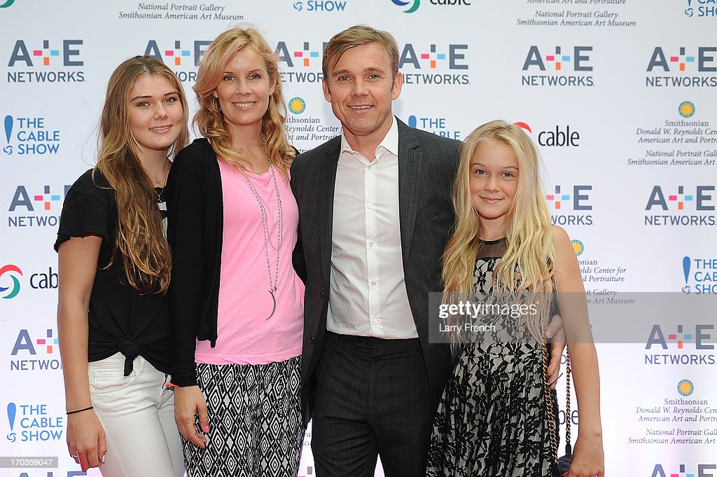 Ricky Schroeder and family attend the A+E hosted NCTA Chairman's Reception at the Smithsonian American Art Museum & National Portrait Gallery on June 11, 2013 in Washington, DC.