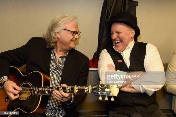 Ricky Skaggs and Collin Raye backstage during 1 Night 1 Place 1 Time A Heroes Friends Tribute to Randy Travis at Bridgestone Arena on February 8 2017...