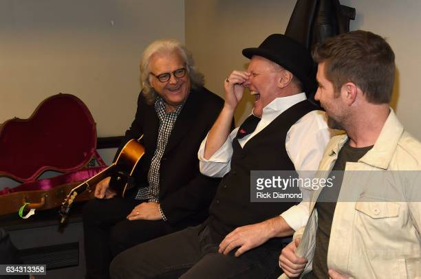 Ricky Skaggs Collin Raye and Josh Turner backstage during 1 Night 1 Place 1 Time A Heroes Friends Tribute to Randy Travis at Bridgestone Arena on...