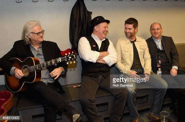 Ricky Skaggs Collin Raye Josh Turner and Darrin Vincent backstage during 1 Night 1 Place 1 Time A Heroes Friends Tribute to Randy Travis at...