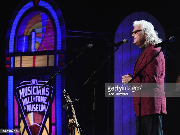 Ricky Skaggs performs during the Musicians Hall Of Fame 2016 Induction Ceremony Show at Nashville Municipal Auditorium on October 26 2016 in...