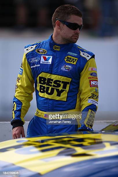 Ricky Stenhouse Jr driver of the Best Buy Ford during qualifying for the NASCAR Sprint Cup Series Camping World RV Sales 301 at New Hampshire Motor...