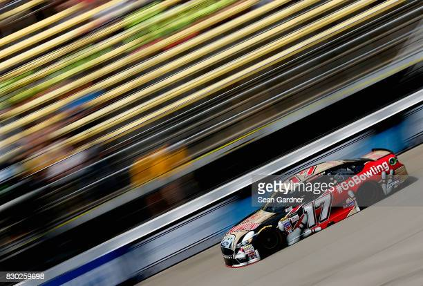 Ricky Stenhouse Jr driver of the Go Bowling Ford practices for the Monster Energy NASCAR Cup Series Pure Michigan 400 at Michigan International...