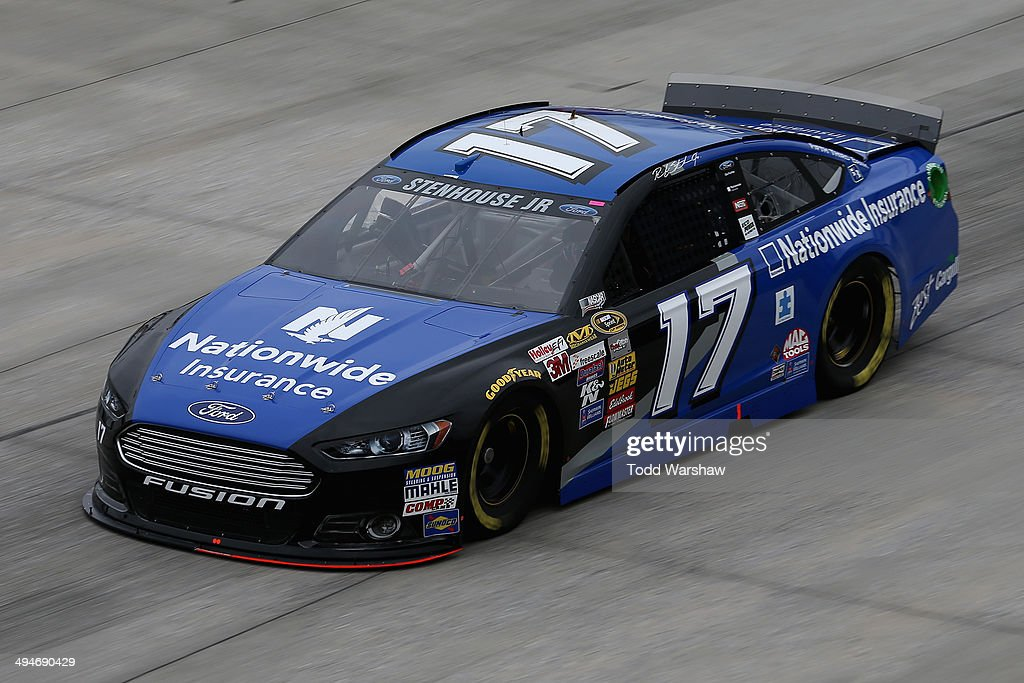Ricky Stenhouse Jr., driver of the #17 Nationwide Ford, practices for the NASCAR Sprint Cup Series FedEx 400 Benefiting Autism Speaks at Dover International Speedway on May 30, 2014 in Dover, Delaware.