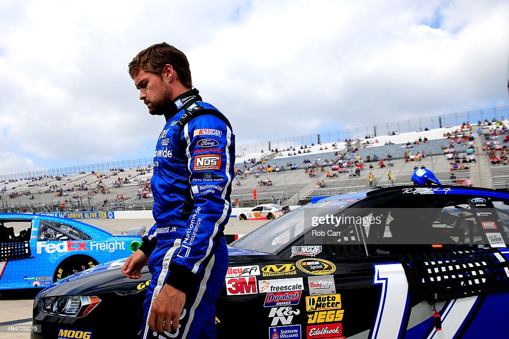 Ricky Stenhouse Jr., driver of the #17 Nationwide Ford, stands on pit road during qualifying for the NASCAR Sprint Cup Series FedEx 400 Benefiting Autism Speaks at Dover International Speedway on May 30, 2014 in Dover, Delaware.