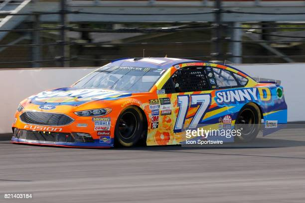 Ricky Stenhouse Jr Roush Fenway Racing Ford Fusion during the NASCAR Monster Energy Cup Series Brantley Gilbert Big Machine Brickyard 400 July 23 at...