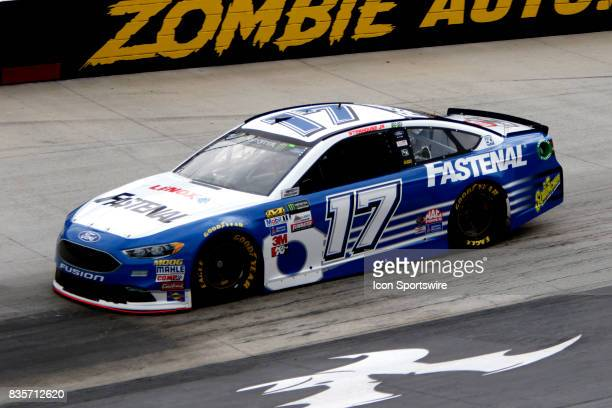 Ricky Stenhouse Roush/Fenway Racing Fastenal Ford Fusion Fusion during practice for the Bass Pro Shop NRA 500 at Bristol Motor Speedway on August 18...