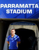 Ricky Stuart poses after announcing his new role as coach of the Parramatta Eels NRL team at Parramatta Stadium on July 27 2012 in Sydney Australia...