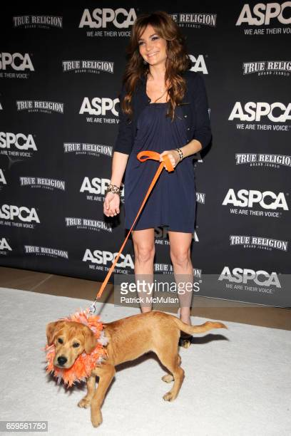 Ricky the Dog and Beth Shak attend The Young Friends of The ASPCA presents 'It's Raining Cats and Dogs' Annual Fundraiser at The IAC Building on...