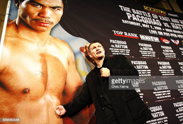 Ricky 'The Hitman' HattonManchesterEngland attends the exclusive red carpet Hollywood premiere on Hollywood Boulevard at the famous Roosevelt Hotel...