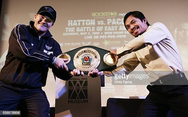 Ricky 'The Hitman' HattonManchesterEngland says to fourtime world champion Manny 'Pacman' PacquiaoGeneral SantosPhilippines 'I want your pound for...