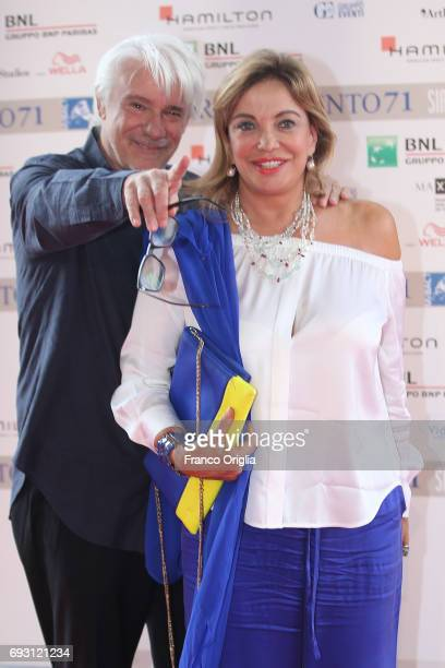Ricky Tognazzi and Simona Izzo attend the nominees presentation of Nastri D'Argento at Maxxi Museum on June 6 2017 in Rome Italy