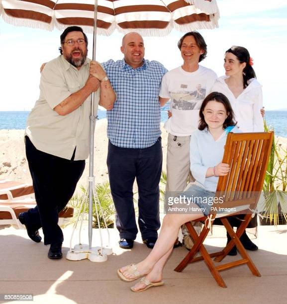Ricky Tomlinson director Shane Meadows Robert Carlyle Shirley Henderson and Finn Atkins pose for photographers during a photocall for his new film...