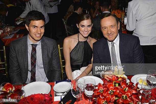 Ricky Van Veen Actors Allison Williams and Kevin Spacey attend Tony Bennett and Susan Benedetto's 'Exploring the Arts Gala' to support arts education...