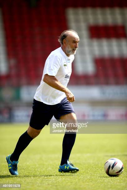 Ricky Villa of 'Super Spurs' during the Football30 Elite Legends Tournament at Brisbane Road on May 18 2014 in London England