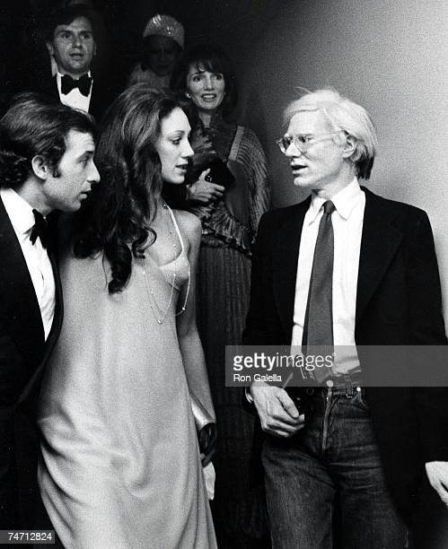 Ricky von Opel Marisa Berenson and Andy Warhol at the Metropolitan Museum of Art in New York City New York