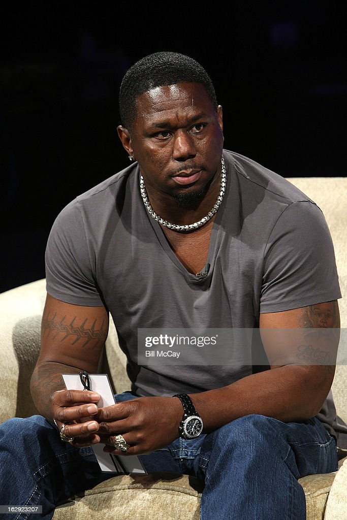 Ricky Watters attends the Stars of Maxwell Football Club Discussion Table on March 1, 2013 in Atlantic City, New Jersey.