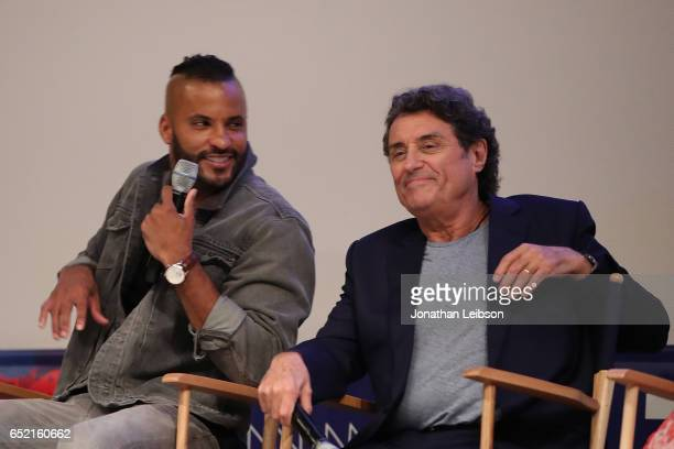 Ricky Whittle and Ian McShane attend the 'American Gods' at SXSW at on March 11 2017 in Austin Texas