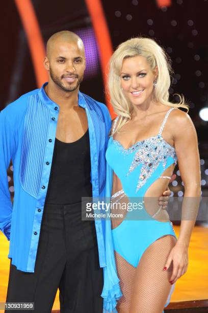 Ricky Whittle and Natalie Lowe attend a photocallahead of the Strictly Come Dancing Live Tour 2011 at Nottingham Capital FM Arena on January 14 2011...