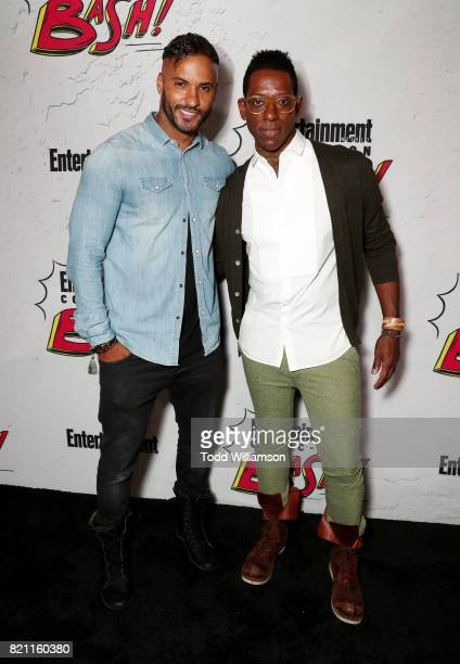 Ricky Whittle and Orlando Jones at Entertainment Weekly's annual ComicCon party in celebration of ComicCon 2017 at Float at Hard Rock Hotel San Diego...