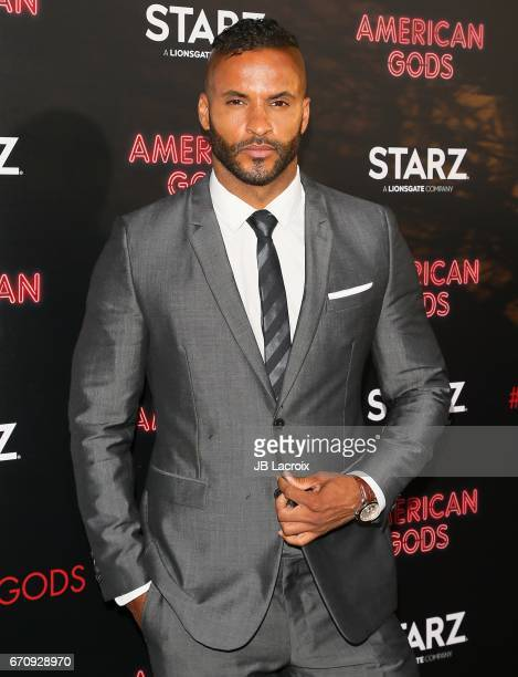 Ricky Whittle attends the premiere Of Starz's 'American Gods' on April 20 2017 in Hollywood California