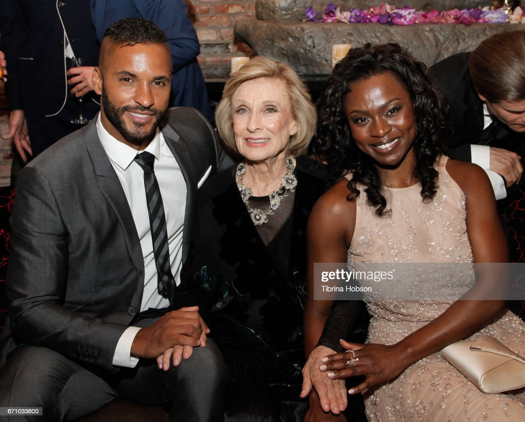 Ricky Whittle, Yetide Badaki and Yetide Badaki attend the premiere of Starz's 'American Gods' after party on April 20, 2017 in Hollywood, California.