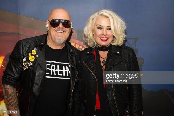 Ricky Wilde and Kim Wilde pose for photographers on Day 3 of Rewind Festival at Scone Palace on July 23 2017 in Perth Scotland