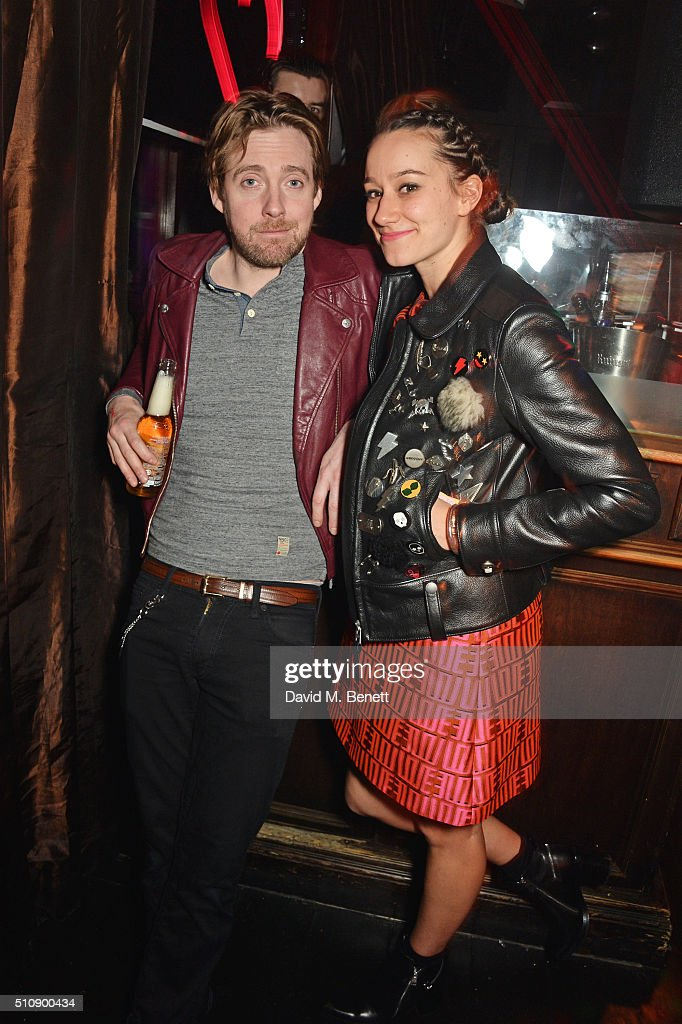 Ricky Wilson (L) and Grace Zito attend the Ciroc & NME Awards 2016 after party hosted by Fran Cutler at The Cuckoo Club on February 17, 2016 in London, England.
