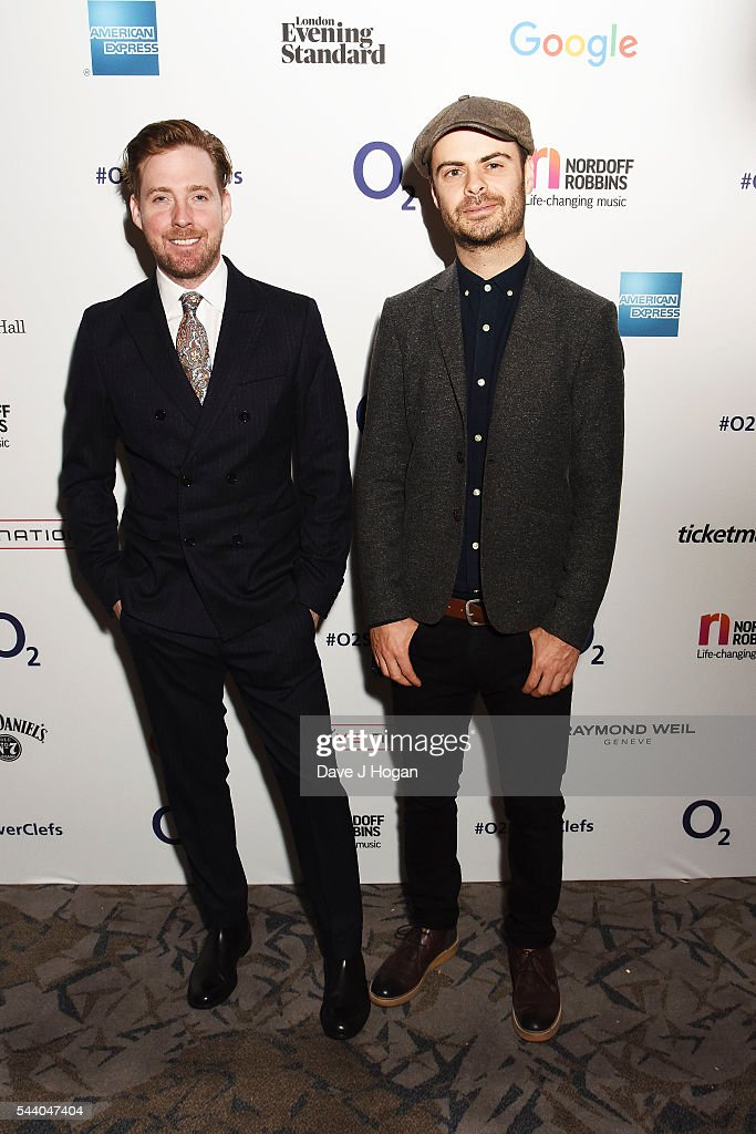 <a gi-track='captionPersonalityLinkClicked' href=/galleries/search?phrase=Ricky+Wilson&family=editorial&specificpeople=206907 ng-click='$event.stopPropagation()'>Ricky Wilson</a> (L) and Nick Baines pose for a photo during the Nordoff Robbins O2 Silver Clef Awards on July 1, 2016 in London, United Kingdom.