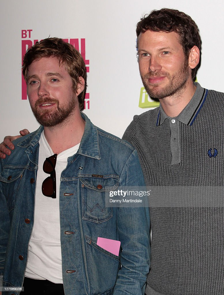 Ricky Wilson and Simon Rix of Kaiser Chiefs attends BT Digital Music Awards at The Roundhouse on September 29, 2011 in London, England.