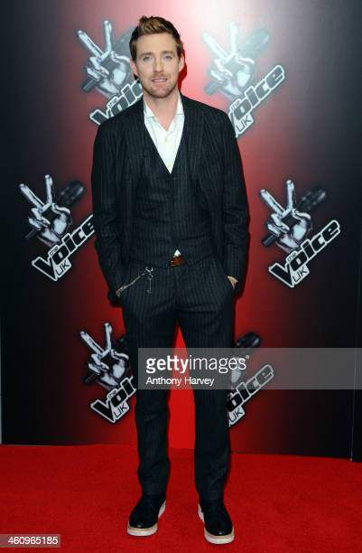 Ricky Wilson attends the red carpet launch for 'The Voice UK' at BBC Broadcasting House on January 6 2014 in London England