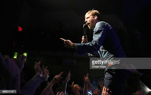 Ricky Wilson of Kaiser Chiefs performs at Scala on February 13 2014 in London England