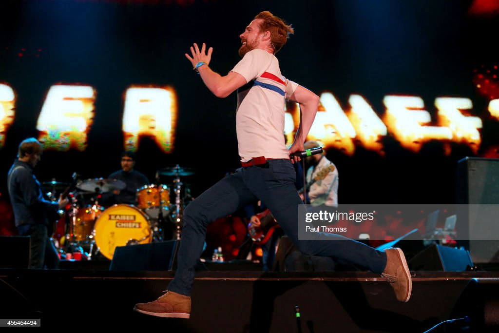 Ricky Wilson of Kaiser Chiefs performs during the Jaguar Land Rover Invictus Games Closing Ceremony at the South Lawn of Queen Elizabeth Olympic Park...