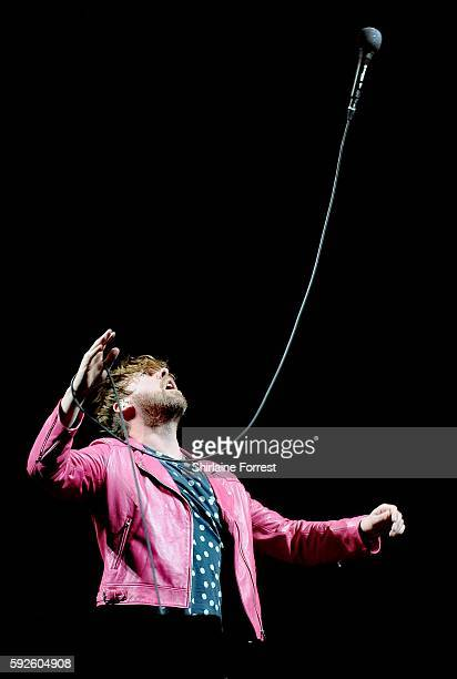 Ricky Wilson of Kaiser Chiefs performs headlining the MTV stage at V Festival at Weston Park on August 20 2016 in Stafford England
