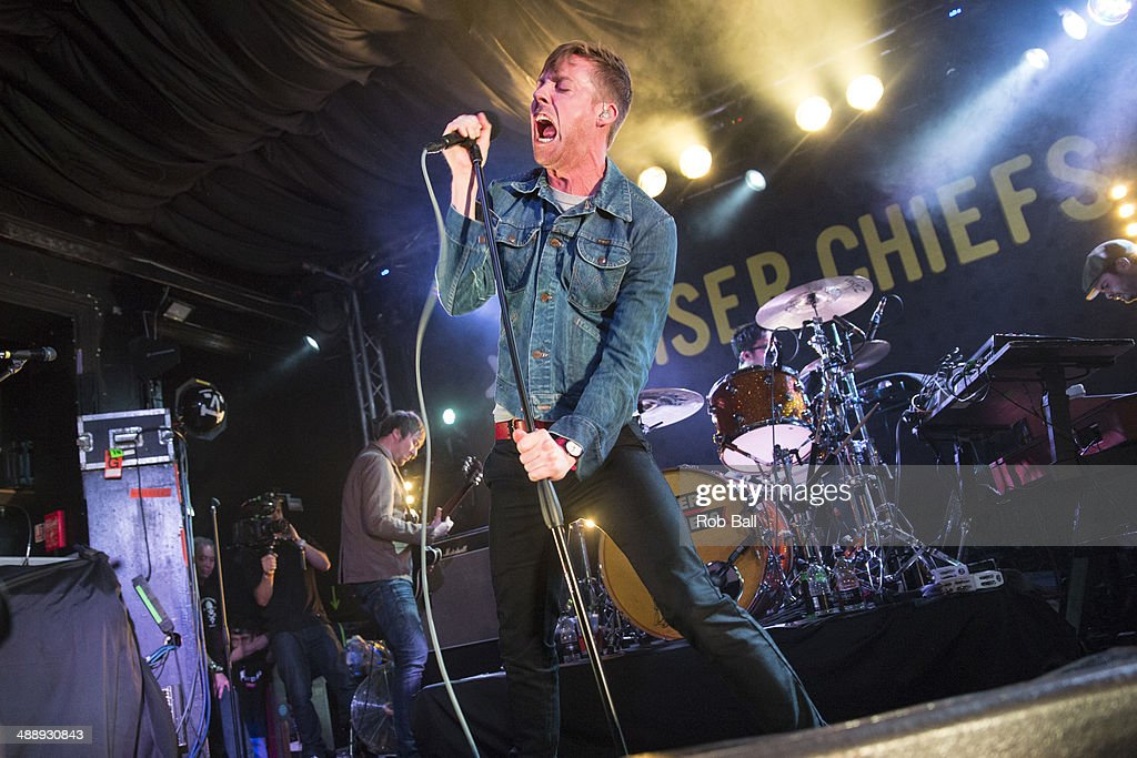 Ricky Wilson of Kaiser Chiefs performs on stage during the Great Escape Festival at on May 9 2014 in Brighton United Kingdom